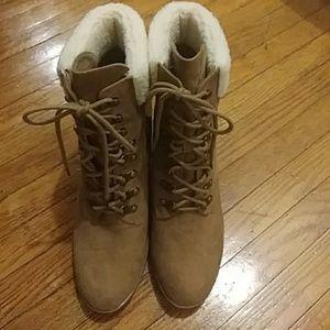 Brash brand calf boots size 12 tie up small platf